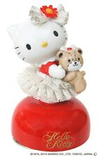 Hello Kitty 40th Ceramic Porcelain Lace Doll Music Box Red Japan Plush Figure FS
