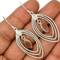 Rose Quartz - Madagascar 925 Sterling Silver Earrings Jewelry AE108813 174N