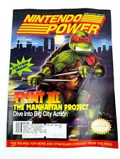 Nintendo Power Magazine TMNT lll The Manhattan Project + Lemmings Poster