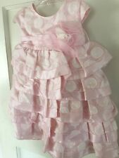 Isobella and Chloe Girls Pink Dotted Multi Ruffle Empire Waist Dress Sze 18M-New