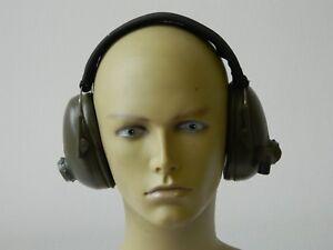 Ex Military Racal Cougar Radio Ear Defenders Headset