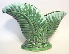 Haeger Green Fern Leaf Vase Vintage Ceramic 9 Inch Drip Glazed
