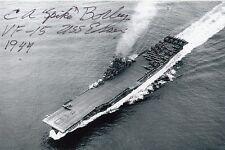 Spike Borley USS Essex Hellcat U.S. ACE 5 Vic signed Navy Cross Recipient
