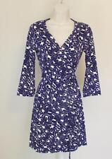 Diane von Furstenberg New Julian two mini Spotted Floral cat purple 2 wrap dress