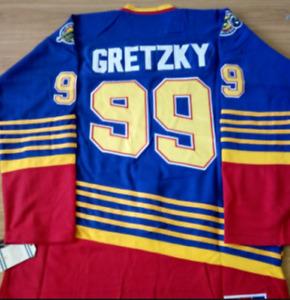 Blues Blue Wayne Gretzky Jersey M, L, XL, 2XL, 3XL