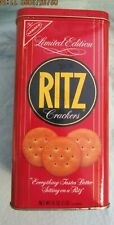 """RITZ Crackers Limited Edition Empty Vintage 1986 Collector Can 8.75"""" Tall"""