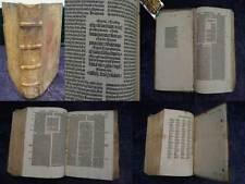 BIBLIA LATINA INKUNABEL SEBASTIAN BRANT 479 BLATT FROBEN PETRI BASEL 1498 #A932S