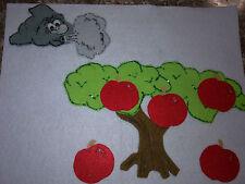 FELT BOARD STORY RHYME TEACHER RESOURCE -  5 FIVE RED APPLES