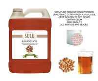 4 LBS / 64 OUNCES PURE 100% ORGANIC UNREFINED KARANJA OIL COLD PRESSED