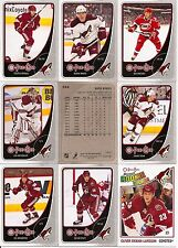 2010-11 OPC O-Pee-Chee Phoenix Coyotes Complete Team Set w/ Leaders (19)