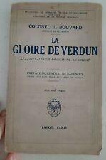 Sv3 Colonel H. Bouvard La gloire de Verdun ed payot 1935