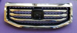 Fits New Honda Pilot Front Grill Grille 12-15 All-in-one Textured / Molding