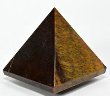 "2.5"" Natural GOLDEN / RED TIGER's EYE Pyramid Hawk's Eye Crystal Mineral Africa"