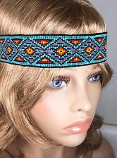 MULTICOLORED NATIVE AMERICAN STYLE INSPIRED STRETCHABLE HAIR BAND Z54/5