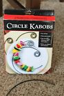 """Charcoal Companion Grill Grilling Nonstick Circle Kabob Skewers Set of 6, 8"""" dia"""