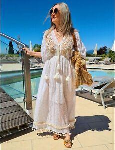 Lange Bestickt Damenkleider Hippie Gunstig Kaufen Ebay