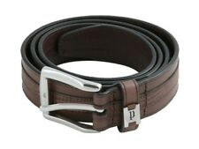 Police POMAA8-0402BM P Keeper Brown Leather Silver Buckle Belt - Size M