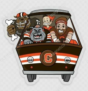 🔥 Cleveland Browns STICKER - Dawg Pound NFL OHIO Go Brownies Baker Mayfield