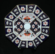 ROYAL CROWN DERBY OCTAGONAL LUNCHEON PLATE TRADITIONAL IMARI  PATTERN 2451