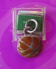d Green dangle basketball Italian LINK bracelet charm claire's