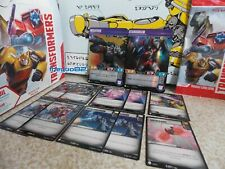 Transformers Trading Card Game Megatron and Starscream Deck - Battle Cards Incl.
