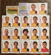 AUSTRALIA COMPLETE TEAM, 19 PANINI STICKERS, WORLD CUP BRAZIL 2014 #BRA25