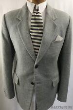 BARRINGTON Men's Sport Coat 42S 2 Button Leather Covered Gray Jacket Blazer