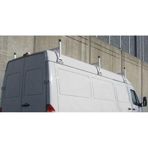 """White Aluminum H1 3 bar Heavy Duty ladder roof rack 64"""" bars. HighTop"""