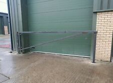 car park swing barrier 4 meter 13 ft. Stop access, security gate, yard, vehicle