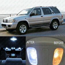 6x Xenon White SMD LED Interior Light Kit For 1995-2004 Nissan Pathfinder QX4
