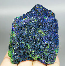 Top !!Display Blue Azurite On Green Malachite Geode Mineral specimen China