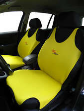2 YELLOW FRONT VEST T-SHIRT CAR SEAT COVERs PROTECTOR FOR MINI COOPER, HATCH