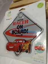 "Safety 1st Disney Cars ""Little Racer On Board"" Car Sign"