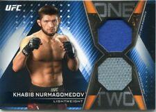 2019 Topps UFC Knockout KHABIB NURMAGOMEDOV Blue 1-2 Combo Jersey Mat Relic #/50