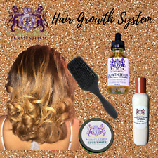 MIRACLE Grow Hair System: Shampoo, Conditioner Serum, Paddle Brush Stimulator