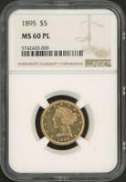 1895 $5 Five Dollars Liberty Head Gold Coin (NGC MS 60 PL)