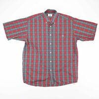 LACOSTE  Red Classic Short Sleeve Casual Shirt Mens L