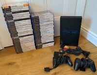 Sony Playstation 2 Phat Black PS2 Console 52 Games Big Bundle - Free P&P