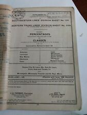 1937 Fort Worth Denver City Railroad Railway DIVISION SHEET w/ Extra's in Folder