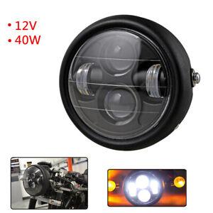 Retro Motorcycle LED Headlight & Turn Singal Lights Projector Head Lamp Modified