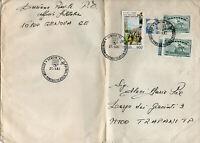 STORIA POSTALE REPUBBLICA ITALIANA AFFRABCATURA MISTA CASTELLI BOBINA GENOVA 92