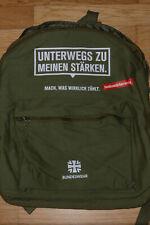 """Bundeswehr Rucksack, oliv, """"Unterwegs zu meinen Stärken""""!"""