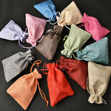 Lot Drawstring Natural Burlap Pouchs Jute Gift Bag Jewelry Packaging Wedding Bag