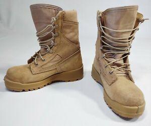 Belleville Boots Men 4.5 R 340 DES ST Safety Steel Toe Flight Combat Hot Tan