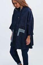 WAVEN BRITTA  oversized denim A-Line Smock  jacket in dark blue size S