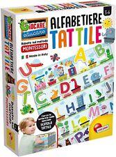 Gioco educativo per bambini Alfabetiere Tattile Lisciani giochi Montessori 3+