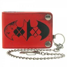 New Official DC Comics ~HARLEY QUINN CHAIN WALLET~ Mens Snap Bifold Biker BATMAN