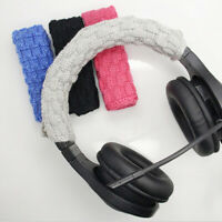 Solid Color Braided Cloth Headphone Headband Cushion Cover Protector Newly