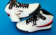 2018 MEN'S FILA VULC 13 MID PLUS WHITE RED BLUE CLASSIC HIGH TOP SNEAKERS Sz 8