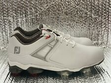 New listing FootJoy Tour X Golf Shoes Men's Size 9.5 WIDE 55403 White / Red / Grey